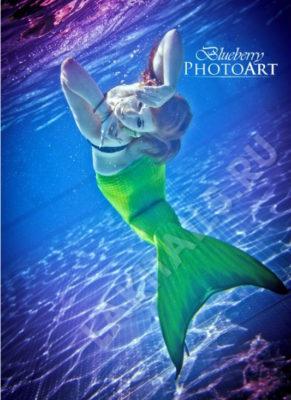 Фотоссесия в хвосте русалки
